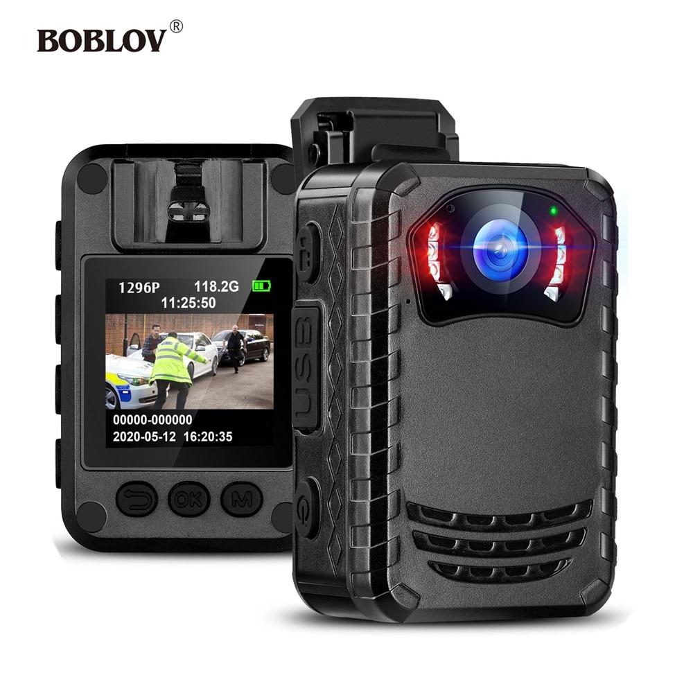 BOBLOV N9 كاميرا يمكن حملها بالجسم كامل HD 1296P الجسم شنت كاميرا صغيرة المحمولة للرؤية الليلية الشرطة الجسم كاميرا 128GB/258GB كاميرا صغيرة