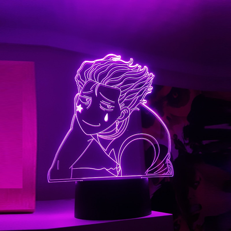 3D Hisoka Meme Anime Led Light for Kids Bedroom Decor Nightlight HXH Gift Hunter X Hunter Table Lamp Hisoka Morow Lamps