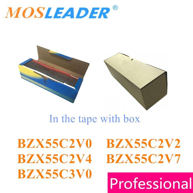 Mosleader 5000 peças do35 bzx55c2v0 bzx55c2v2 bzx55c2v4 bzx55c2v7 bzx55c3v0 mergulho na fita com caixa 2 v 2.2 v 2.4 v 2.7 v chinês bom