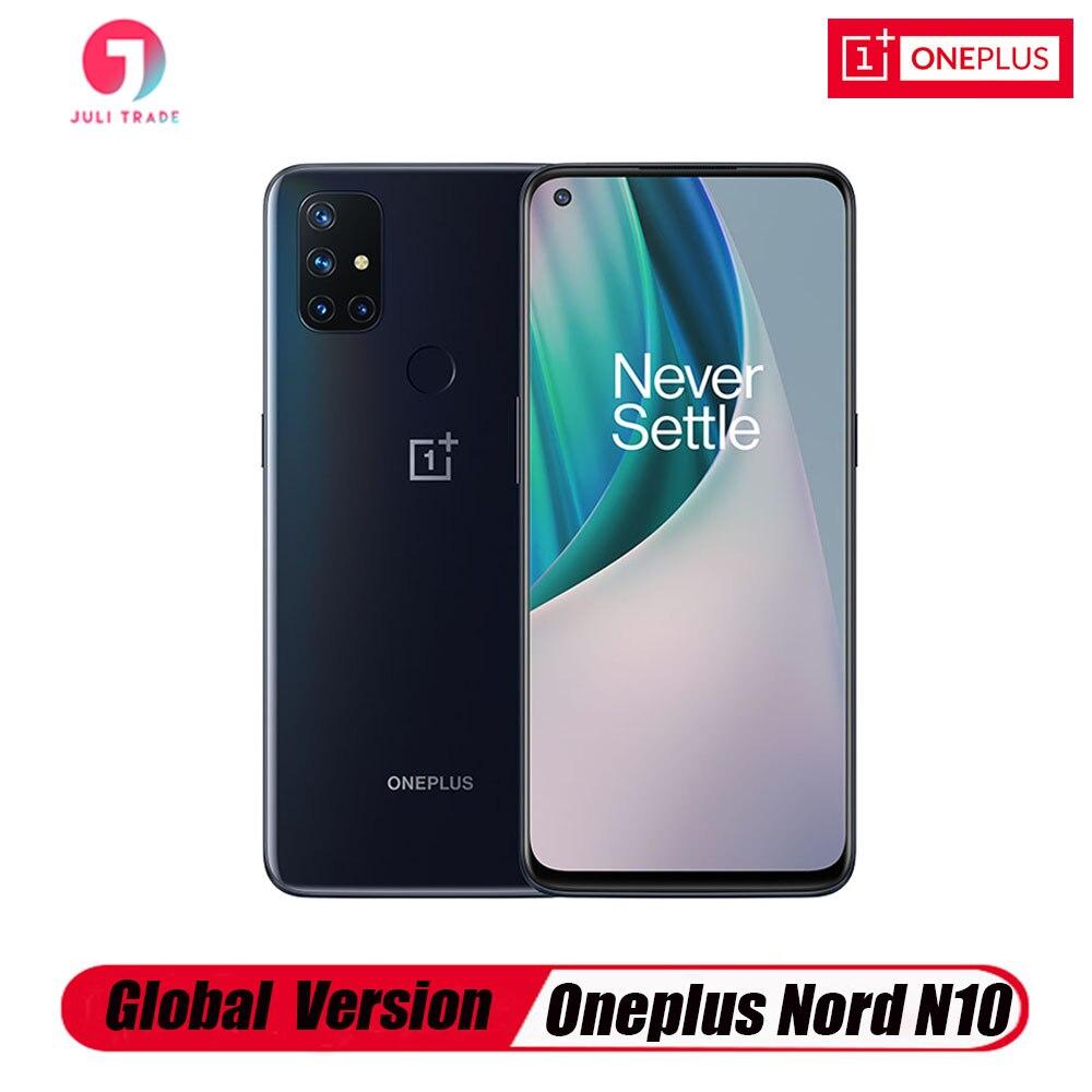 Перейти на Алиэкспресс и купить Глобальная версия Oneplus Nord N10 5G смартфон 64-мегапиксельная четырехъядерная камера 6 ГБ 128 6,49 дюйм90 Гц Дисплей 4300 мА/ч, ЭЛЕКТ Warp заряжайте 30W