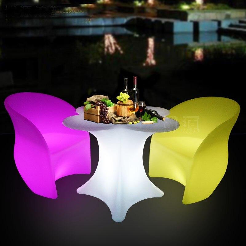 زهر الكرز زهرة على شكل LED قابلة للشحن مضيئة طاولة مشروبات مقاوم للماء مصباح led متوهج طاولة بار kTV ديسكو نادي بار العرض