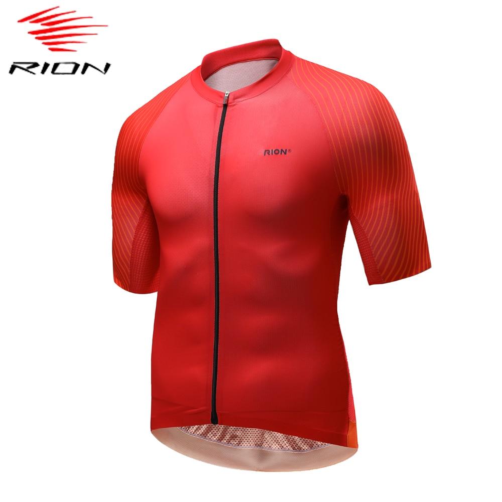 RION-Camiseta de manga corta de Ciclismo para hombre, camiseta de bicicleta de...