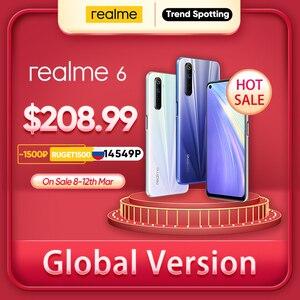 Realme 6 8 Гб 128 NFC глобальная версия 90 Гц Дисплей Helio G90T 30 Вт мгновенная зарядка 4300 мА/ч, Батарея 64MP