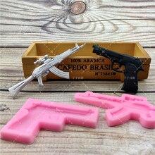 DIY Pistole AK Gun Form Fondant Seife 3D Kuchen Silikon Form Cupcake Gelee Candy Schokolade Dekoration Backen Werkzeug Formen