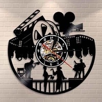 Horloge murale de cinema cinema Art   Decor pour maison  acteur dacteur dacteur  Production de films  amoureux  cadeau retro disque vinyle ancien  horloge murale