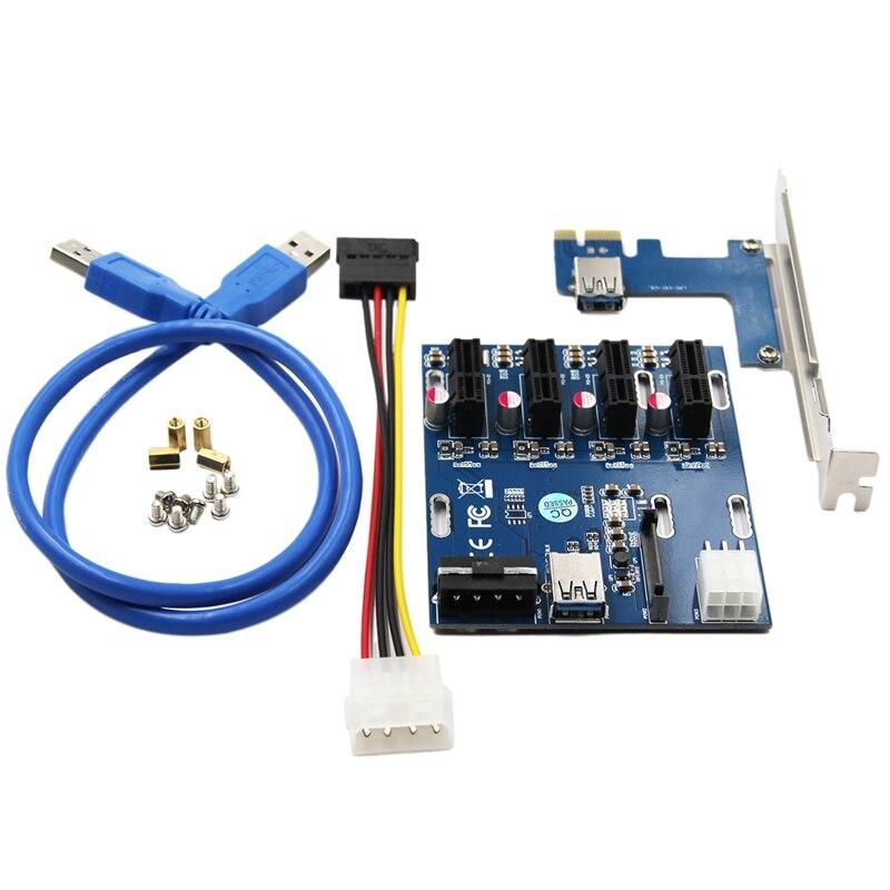 PCI اكسبرس فتحة المجلس ، 1 إلى 4 PCI اكسبرس فتحة المجلس الناهض بطاقة 4 مجموعات أداة لحام كابل PCI-E