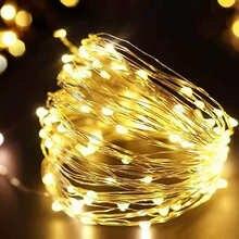1/2/5/10 M Медный провод светодиодные огни строки праздник освещение гирляндой Рождественский венок для Новый год свадебная вечеринка украшен...