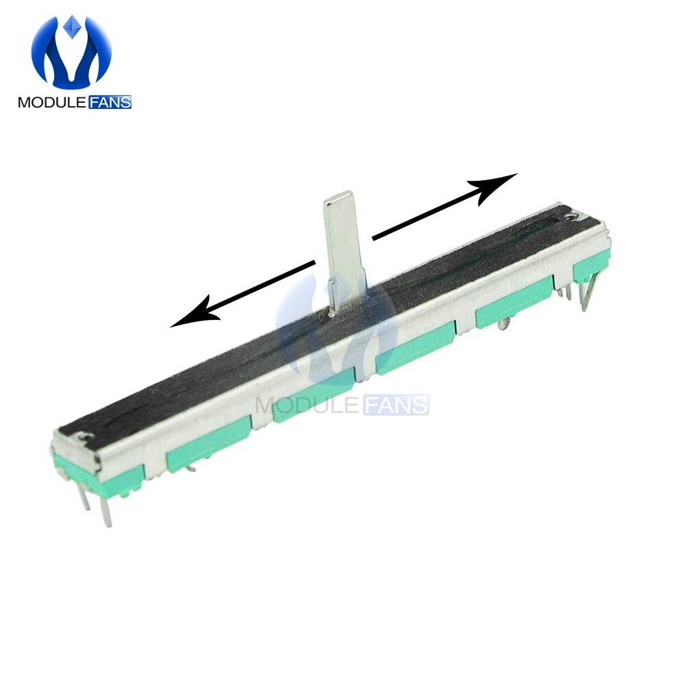 5 sztuk rezystor B103 10K Ohm potencjometr podwójne liniowe 10K B10K SC6080GH regulacja slajdów podwójna liniowa obrotowa folia węglowa