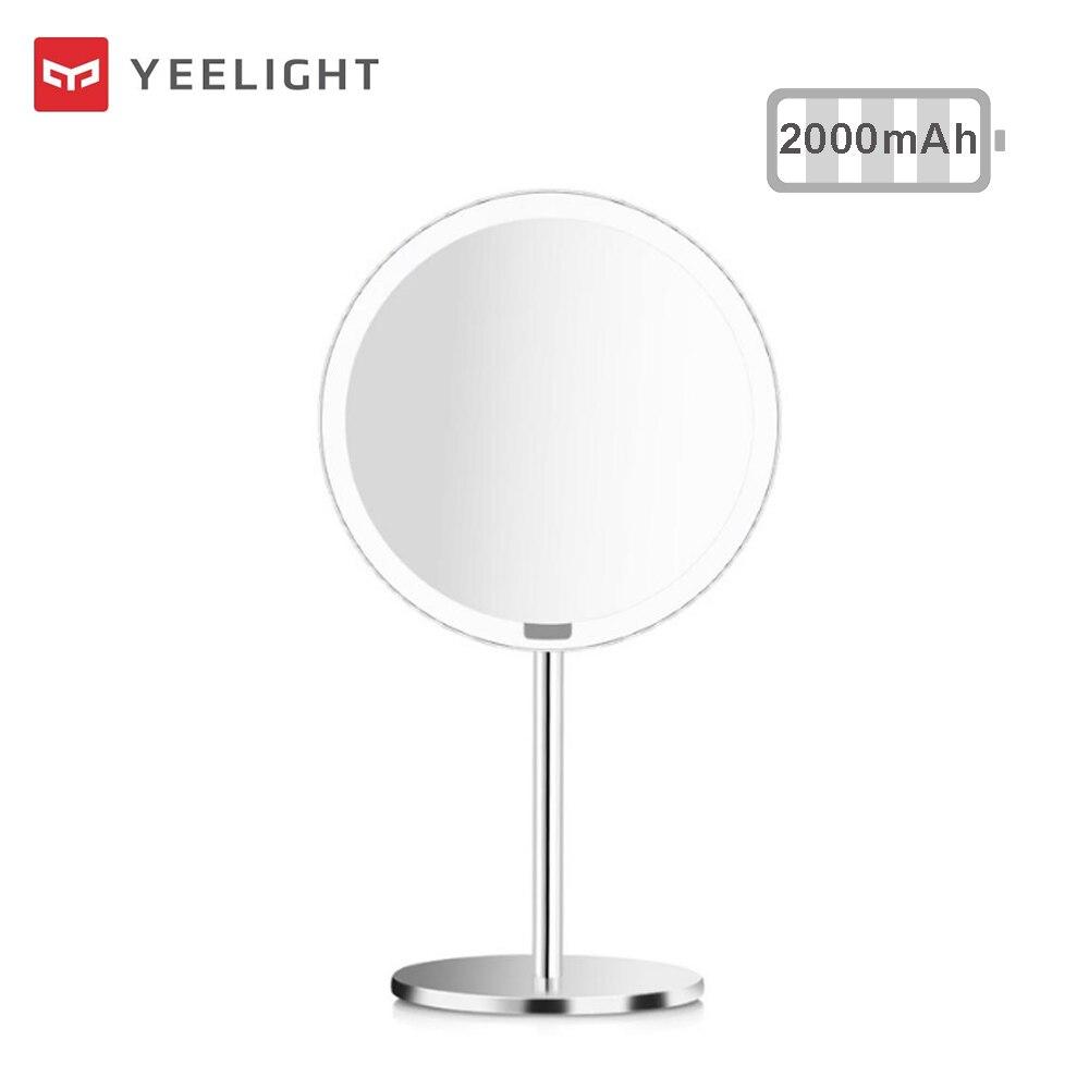 Espejo retroiluminado de maquillaje de 2000mAh Natural con luz LED blanca, luz de día, espejo, luz regulable, Sensor a espelho lustro LD