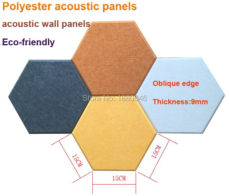 One box 10pcs Creativity acoustic panels Hexagon acoustic treatment panels Eco-friendly Polyester Material acoustic wall panels