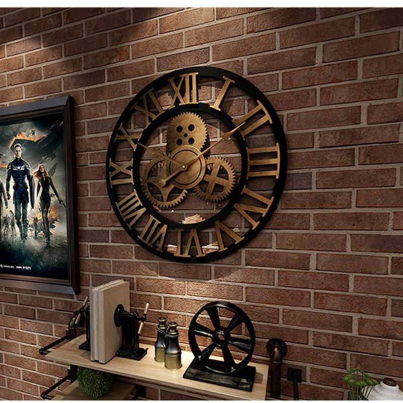 Relógio de parede da arte da parede da arte da parede da parede do estilo da idade industrial