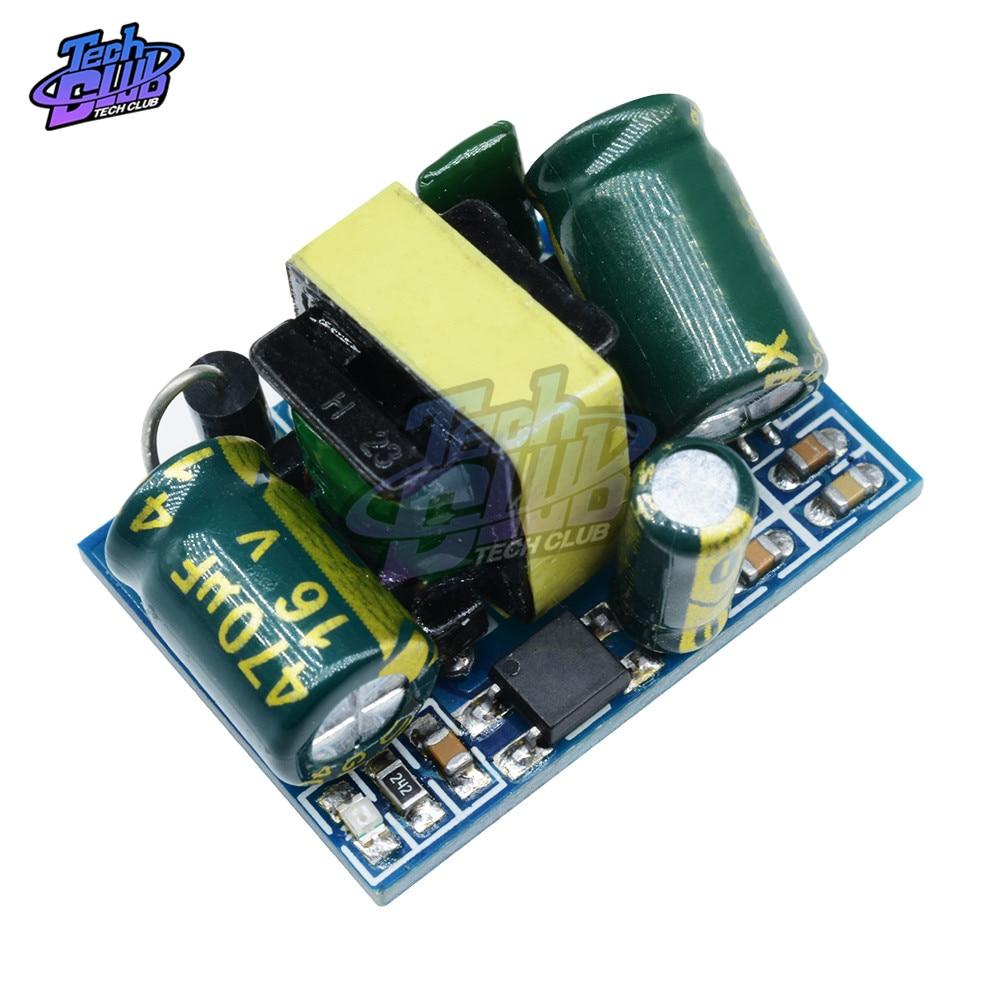 AC-DC convertidor Buck de 5V 3,5 W Placa de reducción 110V 220V a DC 5V módulo de fuente de alimentación del transformador para aislamiento de voltaje Arduino