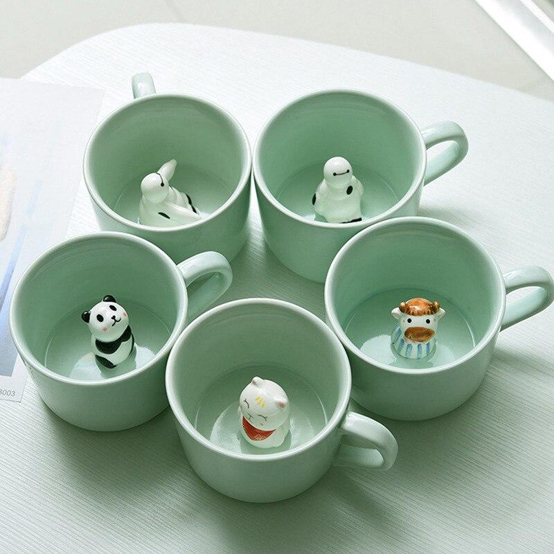 Taza de café creativa de Doble pared, Vaso de leche de vidrio...