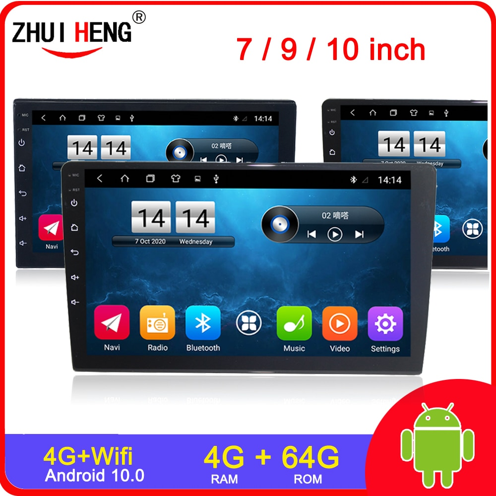 7/9/10.1 inch 2 Din Android 9.1 Car radio undefined Universal Car Stereo Radio car mp5 For Volkswagen Nissan Hyundai Kia Toyota