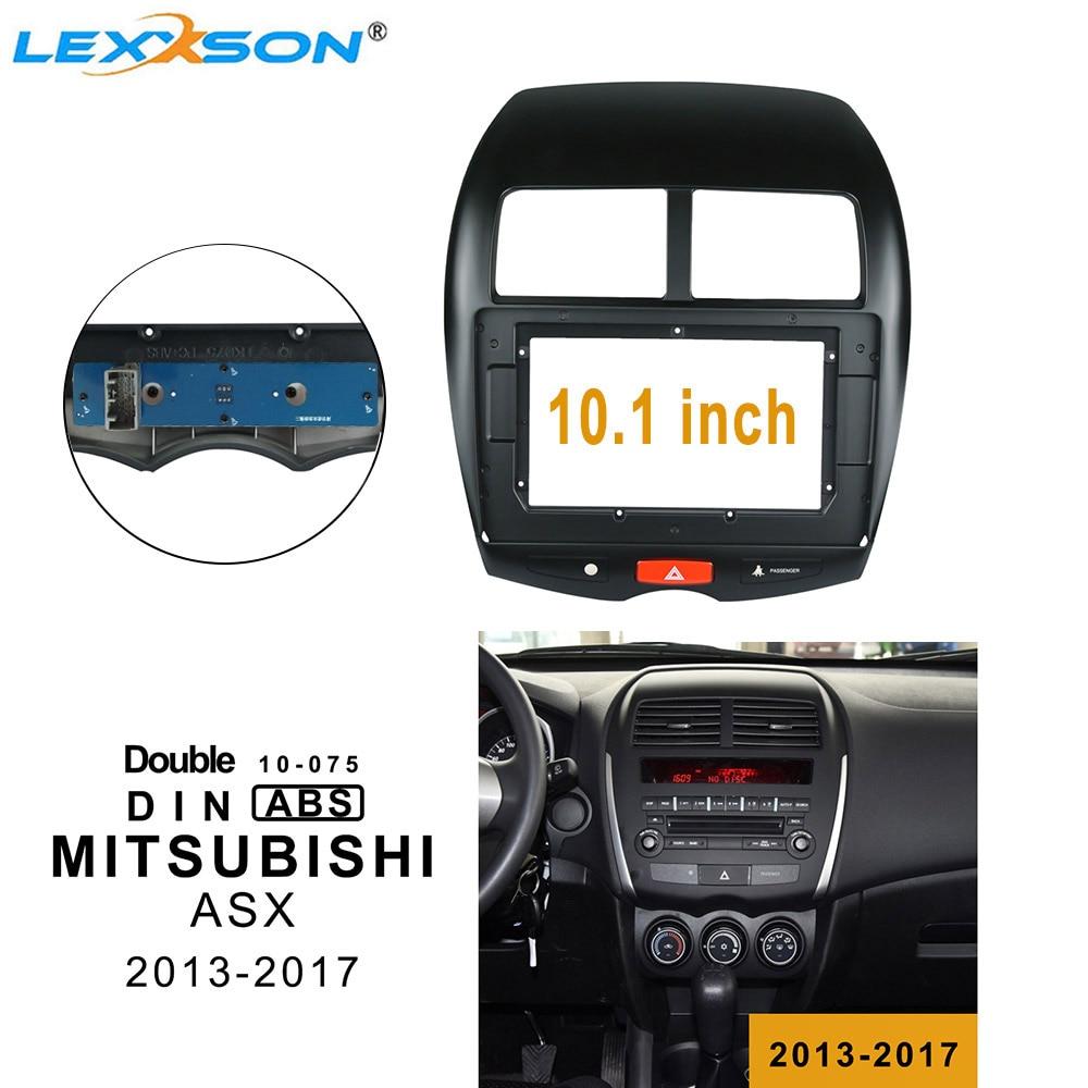 Luz de emergencia para salpicadero de coche de 10,1 pulgadas para MITSUBISHI ASX 2013-2017, Panel adaptador de instalación para salpicadero, Kit de Panel DVD