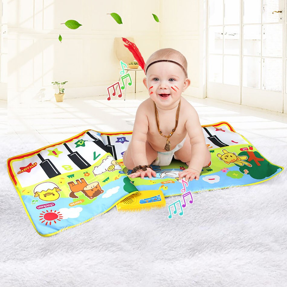Фото - Baby Play Blanket Childrens Educational Piano Music Carpet Baby Crawling Play Blanket That Can Make Animal Sounds Baby Toys make and play nativity