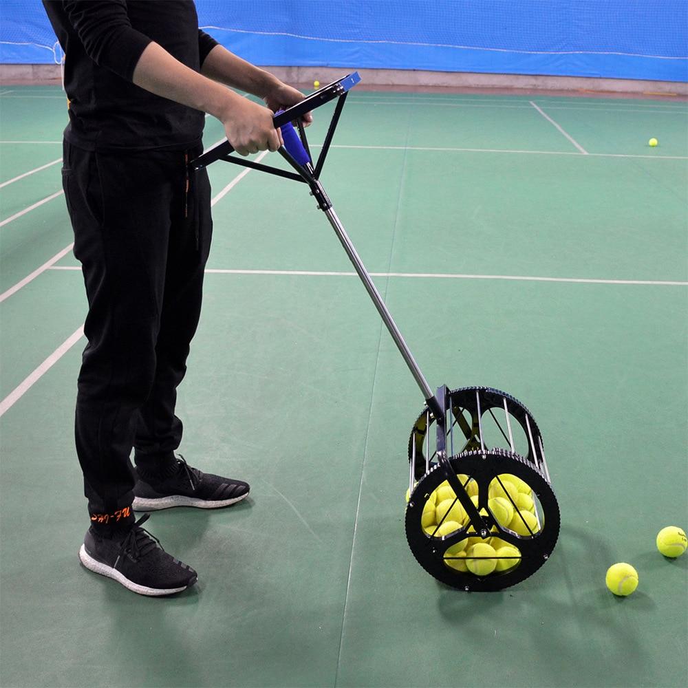 Steering wheel handle Tennis Balls Hopper Basket Tennis Ball Collection Receiver Picker Ball Retriever 80 balls Picking Machine