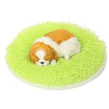 Legendog Solid Color Pet Sleep Mat Round Fluffy Soft Warm Dog Bed Blanket Pet Blanket Pet Pad For Cats Dogs Pet Supplies