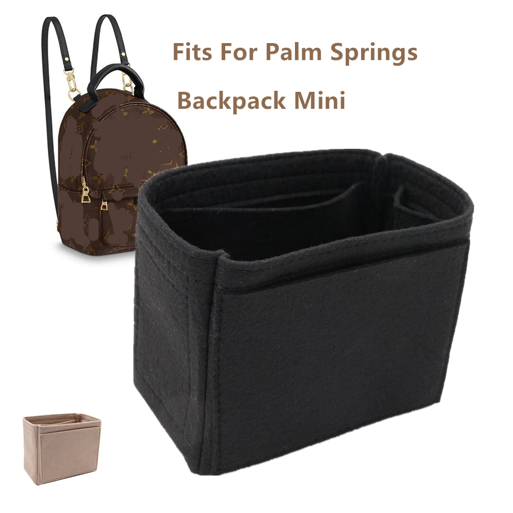 Fits for PALM SPRINGS Backpack Storage Bags Felt Makeup Palm Bag Organizer Insert Bag Organizer Insert Travel Cosmetic Bag high quality backpack bag in bag insert organizer travel makeup bag women cosmetic insert bag multifunctional large capacity