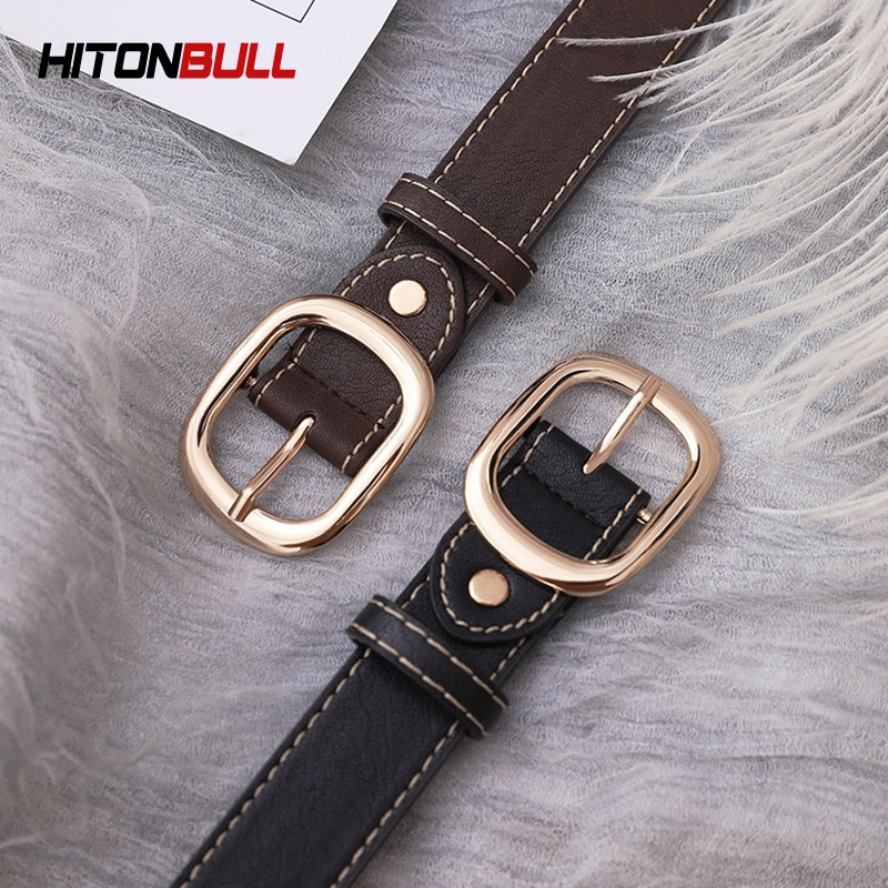 HITONBULL Vintag Simple Fashion Women's Belt Hight Quality Casual Pants Jeans Brand Waistband Hight Quality Female Leather Belts
