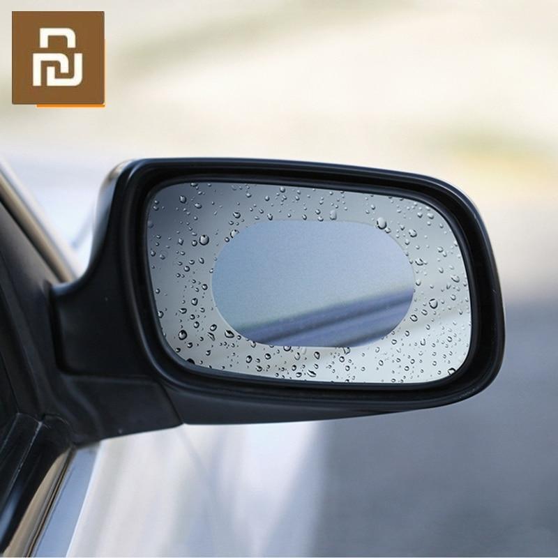 2 unids/set Original espejo retrovisor para coche película protectora a prueba de agua Anti niebla impermeable membrana transparente de la etiqueta engomada