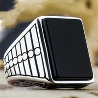 fashion geometric enamel mens ring for party wdiing anniversary jewelry male texture hip hop rings accessories size 6 13