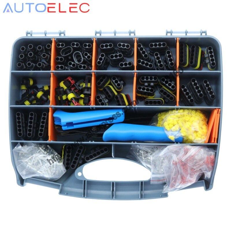 60 conjuntos super selo amp tyco fio conector 1.5 kit 1/2/3/4/5/6pin conector conector automotivo conector e ferramenta crimper