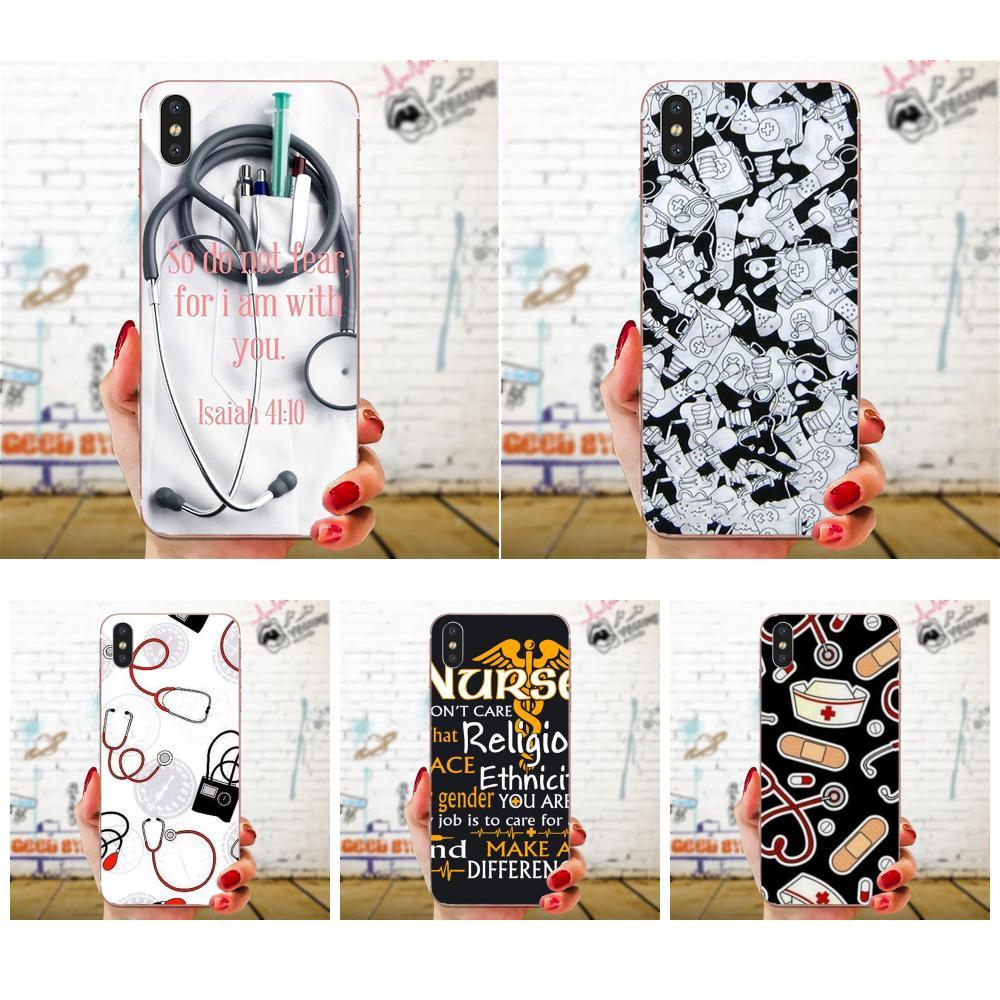 Nifty enfermeras Med cosas para Galaxy J1 J2 J3 J330 J4 J5 J6 J7 J730 J8 2015, 2016, 2017, 2018 mini Pro suave Capa cubierta caso