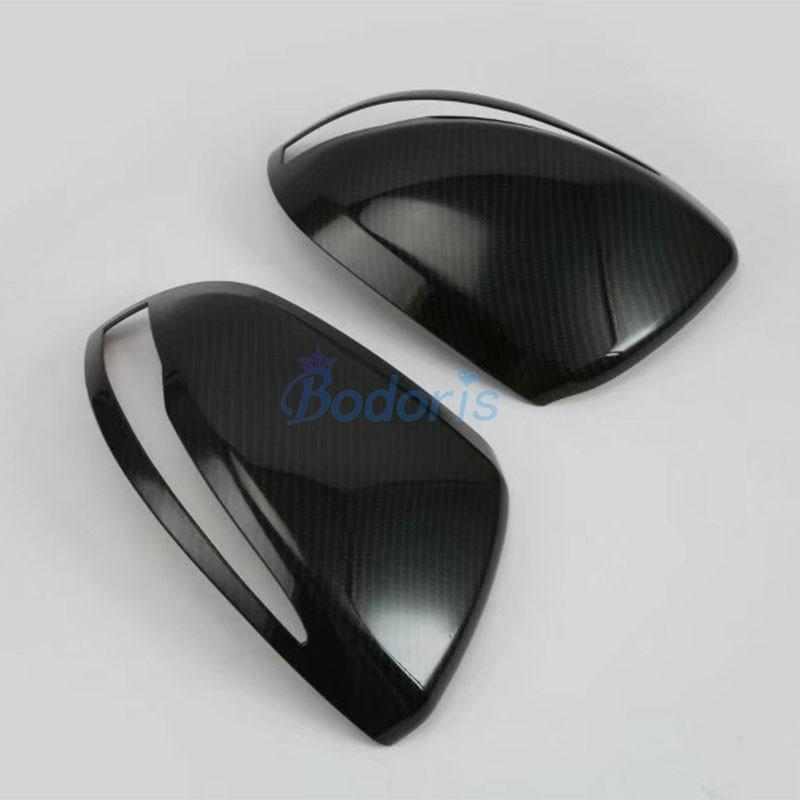 For Mercedes Benz Vito Valente Metris W447 2014-2018 Car Carbon Fiber Door Mirror Cover Rear View Overlay Accessories