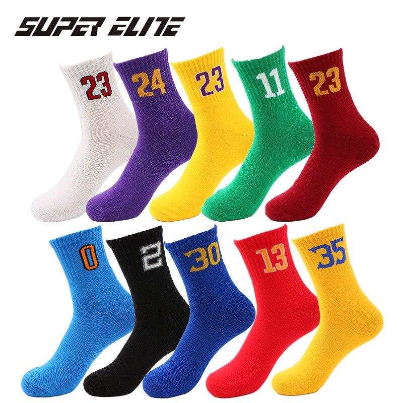 Meias de basquete respirável masculino elite grosso unisex de alta qualidade algodão masculino mid-tube toalha inferior choque esportes meias