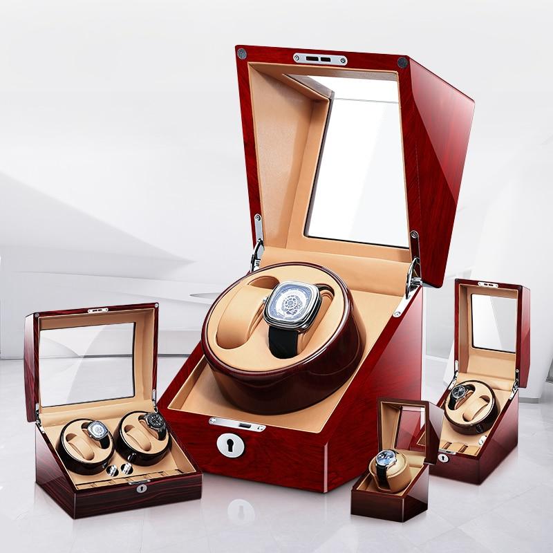 Luxury watch box mechanical watch winder locker automatic winding fine watch display cabinet 1 2 4 6 slots with silent motor