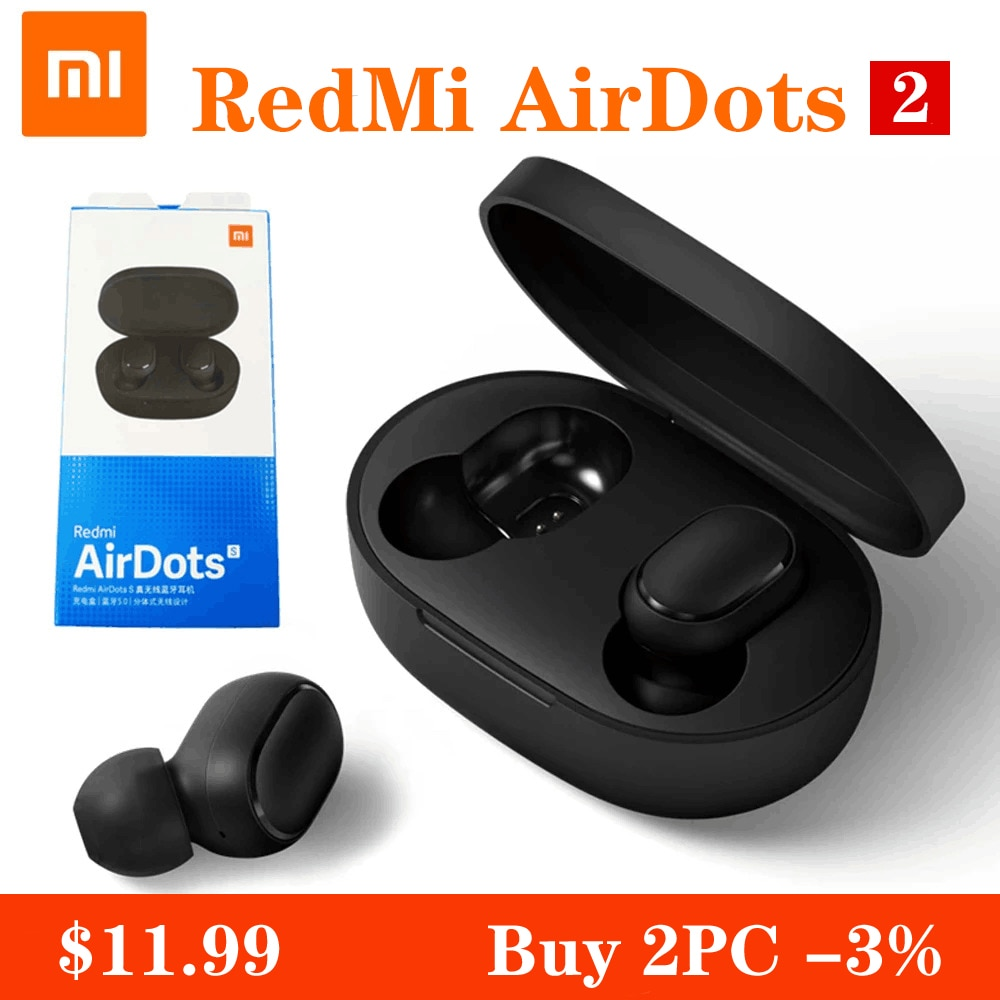 Xiaomi Redmi Airdots S Bluetooth Earphones TWS Wireless Bluetooth Earphone AI Control Gaming Headset