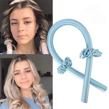 Heatless Curling Rod Headband No Heat Curls Ribbon Hair Rollers Sleeping Hair Curlers DIY Hair Styli