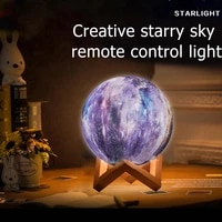 16 color 3d printing moon lamp moon light kids night light change touch and remote control light as gifts diameter 81520cm
