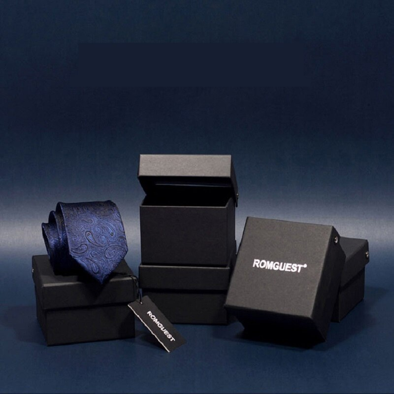 2020 Brand New Men's High Quality Fashion 6CM Slim Blue Zipper Necktie Wedding Groom Formal Neck Tie for Men with Gift Box