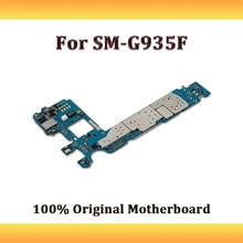100% Desbloqueado Placa Lógica Para Samsung Galaxy S7 Borda G935F Motherboard, versão DA UE Para Galaxy S7 Borda G935F Com Sistema Android