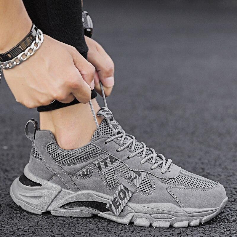 Zapatos informales para hombres, zapatillas de tendencia gruesas, 3 colores, marca de lujo, deportes