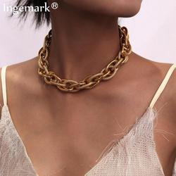 Высокое качество, Панк замок, колье, ожерелье, кулон, женский воротник, брендовый, золотой цвет, массивная толстая цепочка, ожерелье, стимпанк, для мужчин