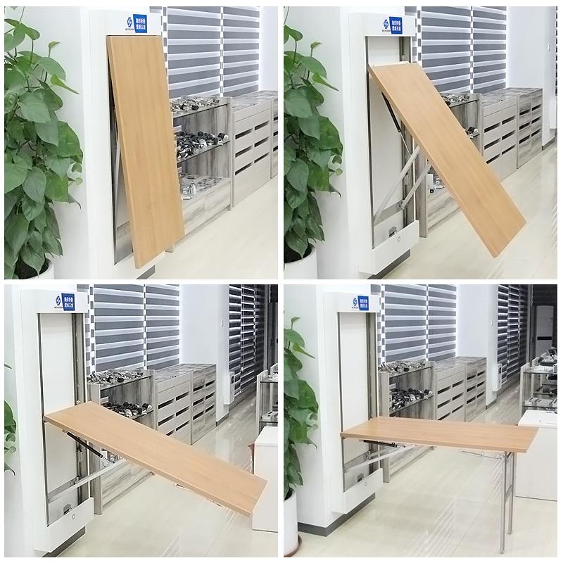 متعددة الوظائف غير مرئية طاولة قابلة للطي الجدار التجهيزات الأجهزة قابل للسحب الجدول المخفي موصل