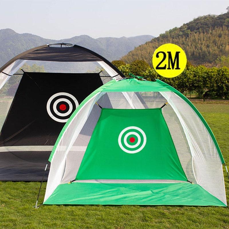 2 متر ممارسة الغولف صافي جولف ضرب قفص داخلي في الهواء الطلق حديقة المراعي ممارسة خيمة جولف التدريب المنزل المعدات الرياضية XA147 + A