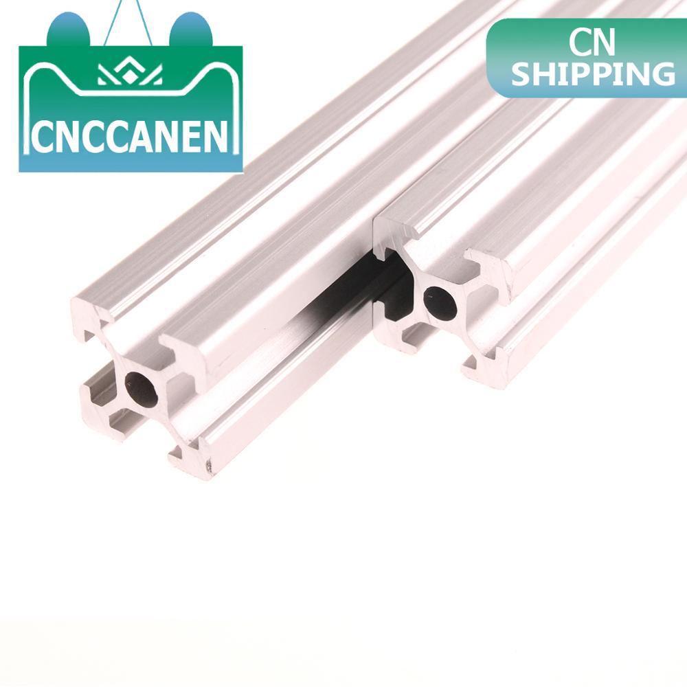 2PCS 2020 Aluminum Profile 2020 Extrusion 100mm to 1500mm European Standard Anodized Linear Rail for DIY CNC 3D Printer Parts