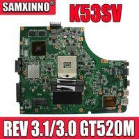 K53SV Motherboard REV 3.1/3.0 GT520M For Asus K53S A53S K53SV K53SJ P53SJ X53S laptop Motherboard K53SV Mainboard test 100% ok