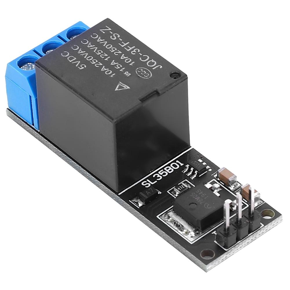 Contactor Modular de CA para el hogar, modulador de contactor de bloqueo automático biestable de 1 canal, botón MCU, relé de nivel bajo