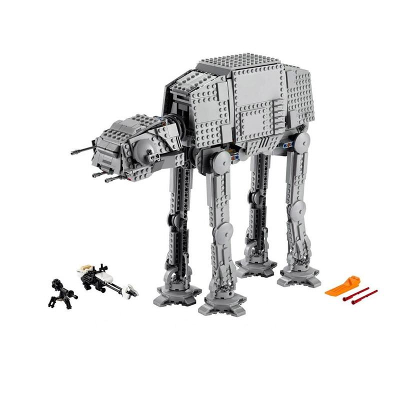 Serie de Star Wars de Control remoto eléctrico, 1267 Uds., Robot AT- AT, Compatible con 05051 10178 75288
