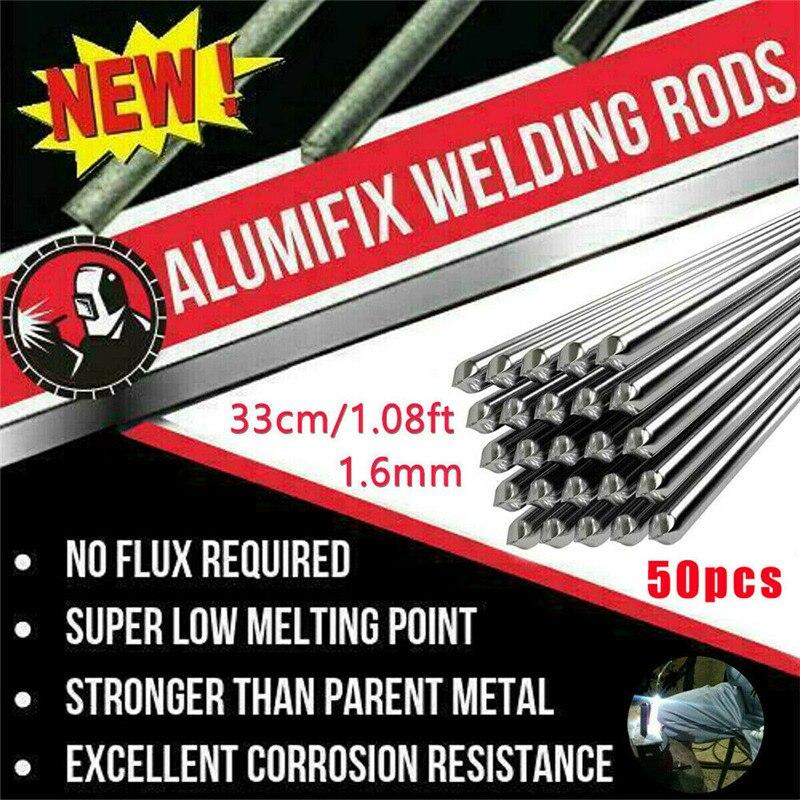Varilla de soldadura de aluminio de baja temperatura, 50 unids/set, 1,6/2MM, No...