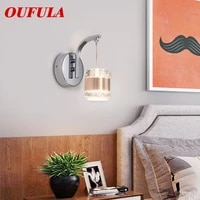 hongcui indoor wall lamps fixture crystal modern led sconce contemporary creative decorative for home foyer corridor bedroom