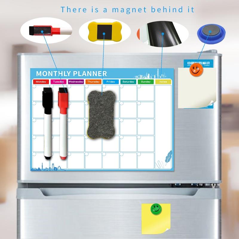 Магнитная доска YIBAI A3 30*42 см, гибкая Магнитная водонепроницаемая доска для рисования на холодильник, с бесплатным подарком