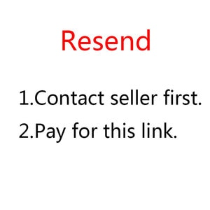 This link is used to resend goods to buyers,please contact seller first.