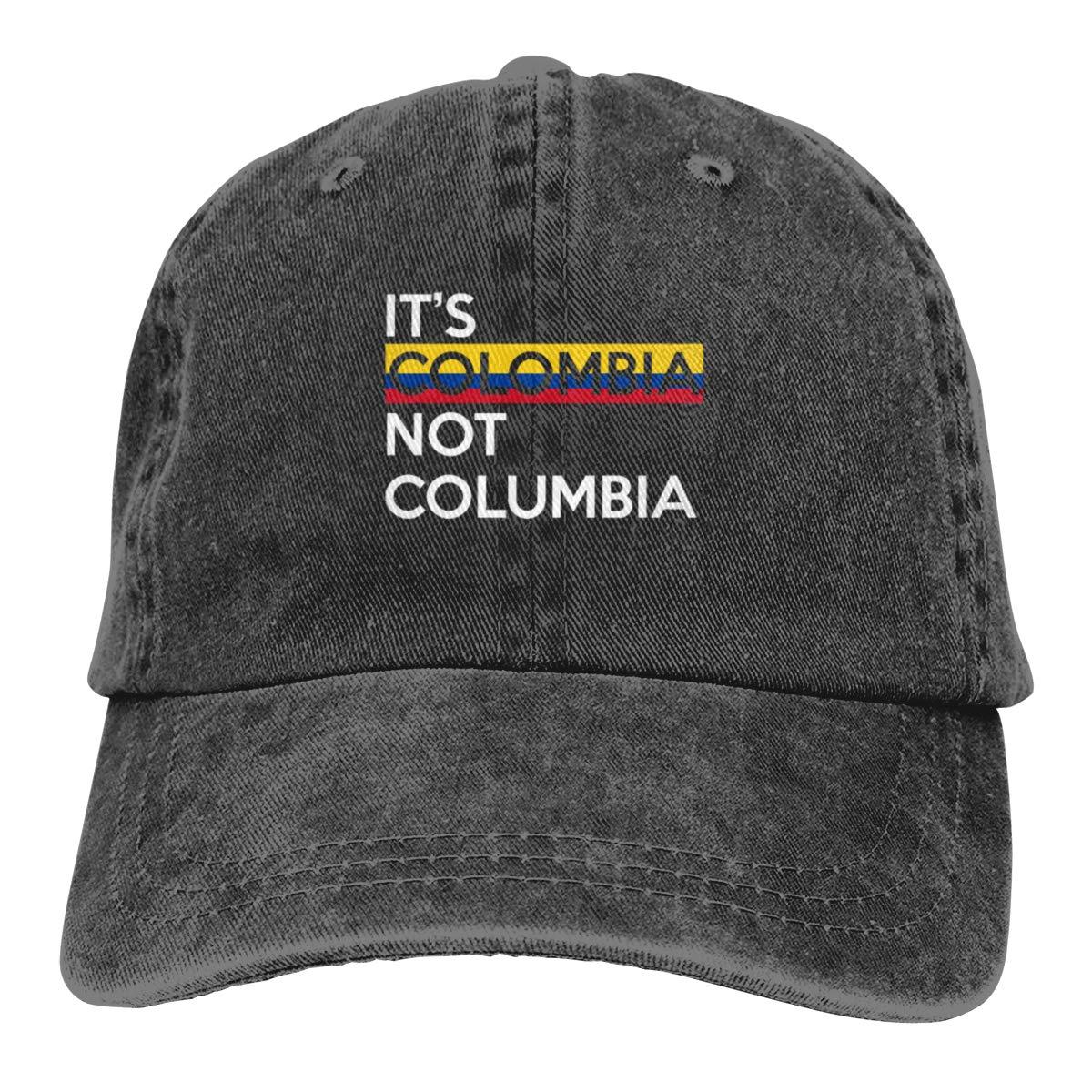 Его Колумбия не Колумбия Регулируемая ковбойская Кепка папа бейсбольная шляпа Wo Мужская черная
