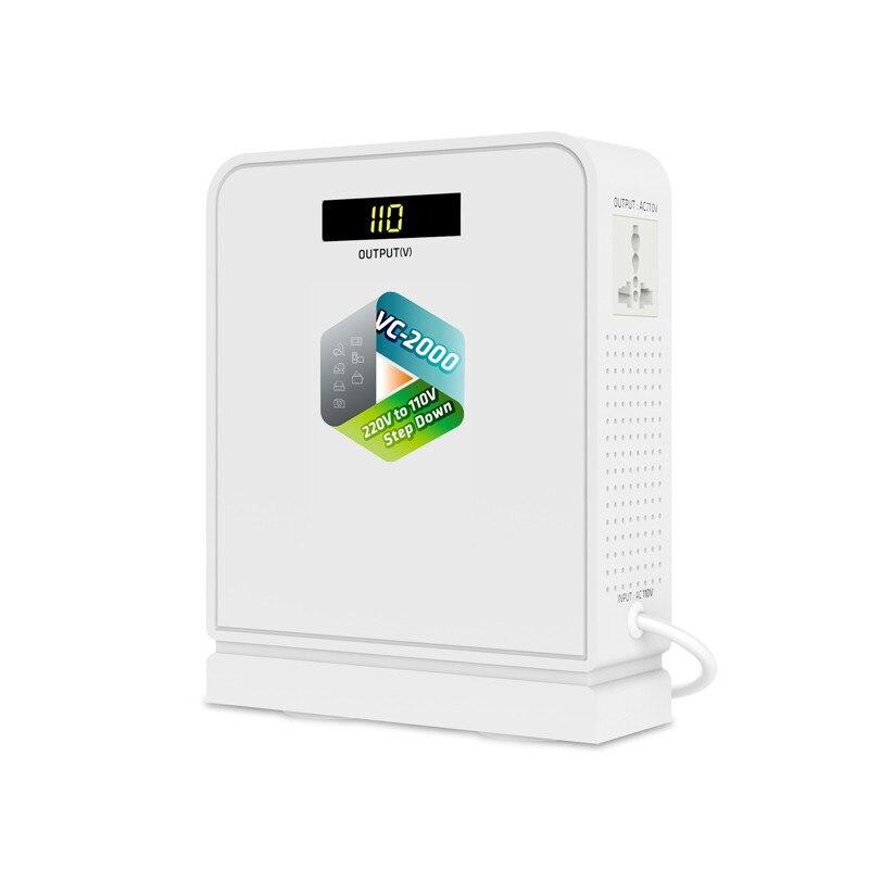 UMI2000w محول طاقة عالي الجهد ، محول سفر 220 فولت إلى 110 فولت ، للأجهزة الأمريكية ، استخدام في Aisa